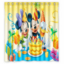 Mickey And Minnie Bath Decor by Bathroom Appealing Mickey Mouse Shower Curtain For Cute Bathroom