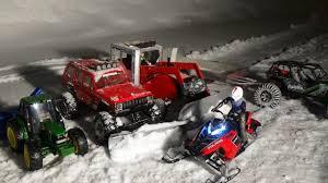 100 Rc Truck Snow Plow Snowmobile Polaris Rushrc Tractor With Snow Blowertruck