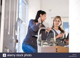 100 Moving Hand Truck Young Women Moving Cardboard Boxes With Hand Truck Stock Photo