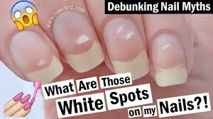 white spots on your nails what causes them debunking nail