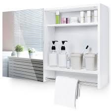yorbay spiegelschrank mit verstellbaren einlegeboden und