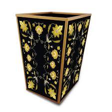 badezimmer mülleimer goldblätter mit schwarzem hintergrund handgemachte dekorative abfallkorb