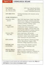 beaufiful chronological resume template photos