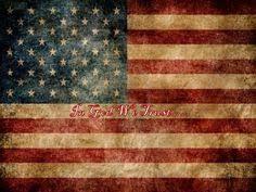 Primitive Grungy American Flag Feedsack Logo By Starrmtnprims