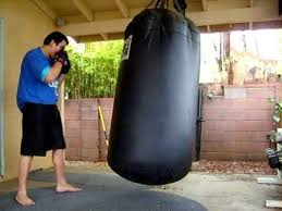 Everlast Heavy Bag Ceiling Mount by Bas Rutten Work Out On 500 Lb Punching Bag Youtube
