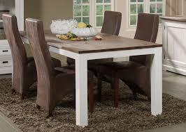 grande table de salle à manger en bois massif blanc contemporaine