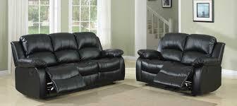 fantastic black leather reclining sofa homelegance cranley