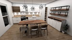 100 Contemporary Scandinavian Design Modern Style Kitchen 3D Model