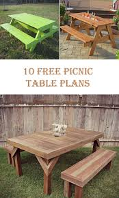 Outdoor Table Plans Free by 10 Free Picnic Table Plans U2013 Diys To Do