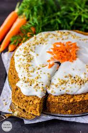 saftiger und kalorienarmer möhrenkuchen mit frischkäse