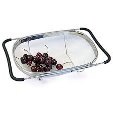 culina stainless steel fine mesh expandable over the sink strainer
