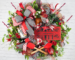 Chef Wreath Welcome Kitchen Everyday Tuscan Decor