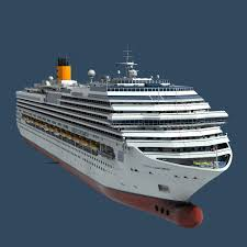 Cruise Ship Sinking 2007 by C4d Costa Concordia Cruise Ship 3d Model Render Pinterest
