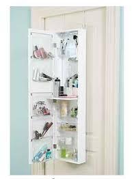 Over The Door Bathroom Organizer by Over Door Mirror Makeup Cosmetic Organizer Bathroom Storage
