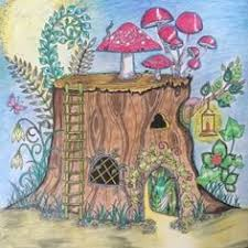 Kreativ Blog Von Ke Si Mein Zauberwald Johanna Basford Tree StumpsJohanna BasfordColoring PagesColoring Books