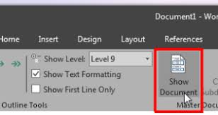 How To Create A Master Document And Add Subdocuments In MS Word 2016
