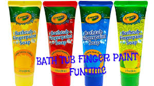 bathtub finger paint soap funtime youtube
