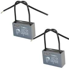 Cbb61 Ceiling Fan Capacitor 2 Wire by Hqrp 887774401191710 2 Pack Ceiling Fan Capacitor Cbb61 4 5uf 2 Wire