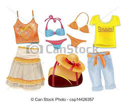 Vector Clip Art Of Set Seasonal Clothes For Girls Csp10504011