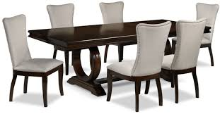 Rosario 7-Piece Dining Room Set - Cherry And Beige