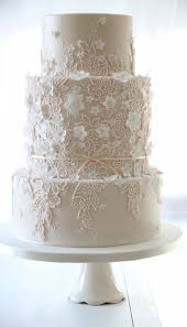 22 Pretty Lace Wedding Ideas white lace wedding cake lace