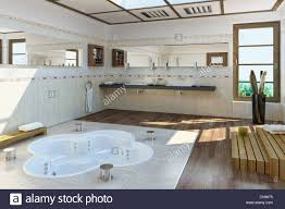 große luxus badezimmer mit badewanne in den boden