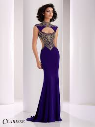 clarisse purple and gold cutout prom dress 4834 prom purple and