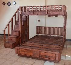 Queen Size Loft Bed Plans by Bunk Beds Diy Bunk Bed Plans Queen Over Queen Bunk Beds Queen