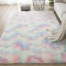 hometobeauty flauschigen bereich teppich shaggy tie gefärbt