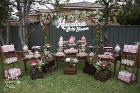Rustic Baby Shower Styling