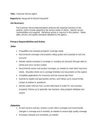 Customer Service Job Description For Resume Telemarketing