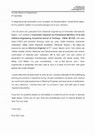 Examples Of Application Letter For Fresh Graduate Refrence Sample Resume Electrical Engineer New Cover