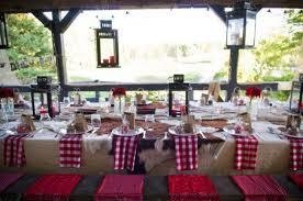 Western Style Wedding Table Decor