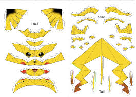 29 Images Of Pikachu Papercraft Template