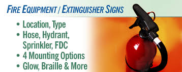 Fire Extinguisher Mounting Height Requirements by Equipment Extinguisher Signs