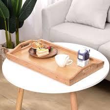 bambus betttisch serviertablett beistelltisch 50x30x25
