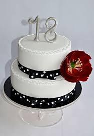 Black white cake for 18th birthday