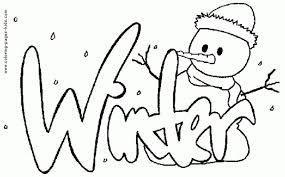 Disney Winter Coloring Pages Getcoloringpages For Printable