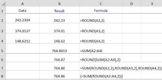 Ceiling Function Excel Vba by The Round And Sum Functions In Excel