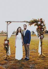 Rustic Boho Wedding Decor Ideas Arch With Native Floral Arrangements