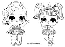 Unicorn From LOL Surprise Doll Coloring Pages Free To Print