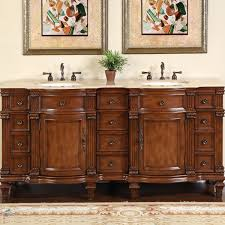 52 Inch Single Sink Bathroom Vanity by Amazon Com Silkroad Exclusive Travertine Stone Top Double Sink