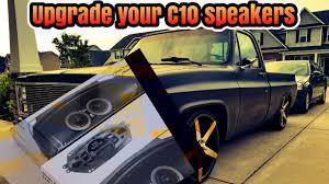 100 Truck Speakers C10 Silverado Truck Factory Speaker Upgrade Options YouTube
