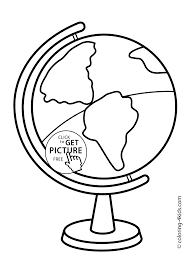 Full Size Of Coloring Pageglobe Page School Large Thumbnail