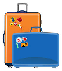 Suitcase Clip Art Cliparts Travel Luggage Free Download Templates