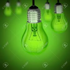 light bulb on green and more bulbs stock photo picture and