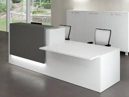 bureau gris laqué bureaux d accueil design en bois gris ombre laqué mat achat