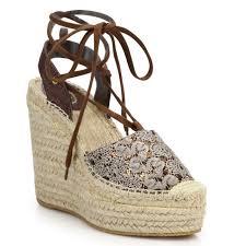 ash tessa bis lace up espadrille wedge sandals ash shoes all