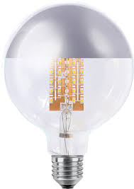 9 watt silver crown g125 led light bulb edison e27