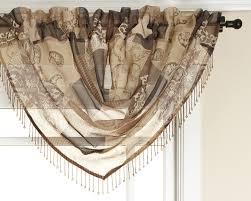 Waterfall Valance Curtain Set by Amazon Com Renaissance Home Fashion Jasmine Tile Print Sheer